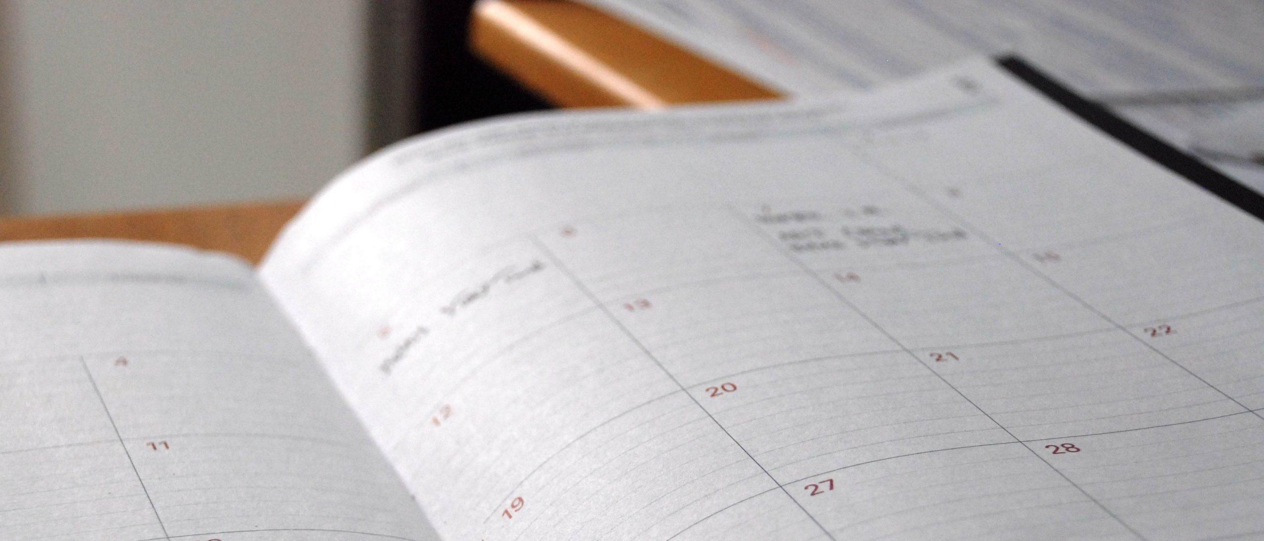 Planer Zeit Tisch Organisation Zeitmanagement